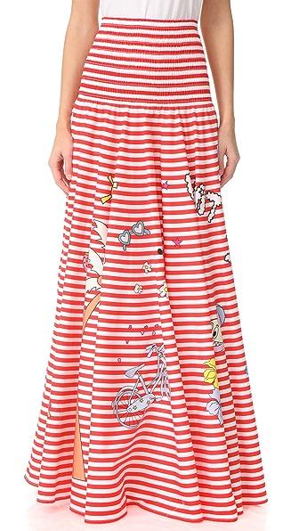 Mira Mikati Printed Circle Skirt