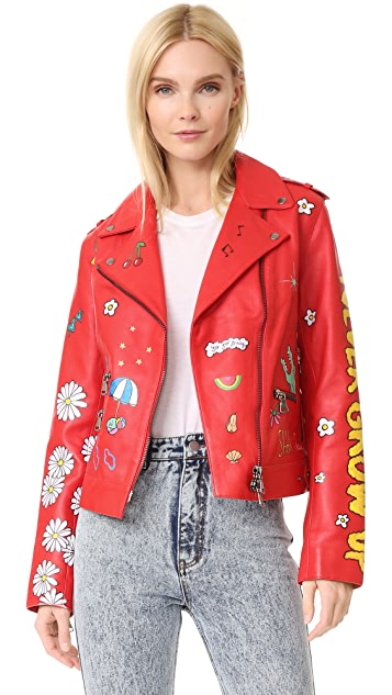 Mira Mikati Hand Painted Never Grow Up Jacket