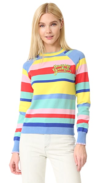 Mira Mikati Multi Striped Never Say Goodbye Sweater