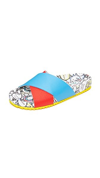 Mira Mikati Rainbow Monster Slides - Multi