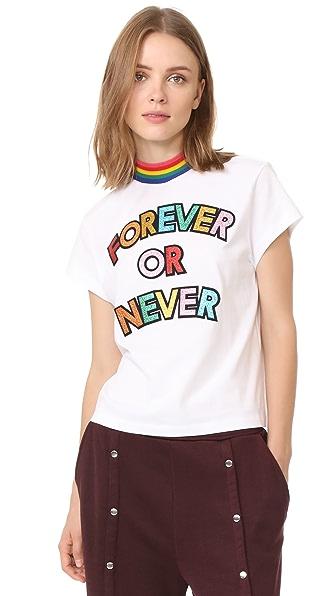 Mira Mikati Forever Or Never High Neck T-Shirt - White/Multi