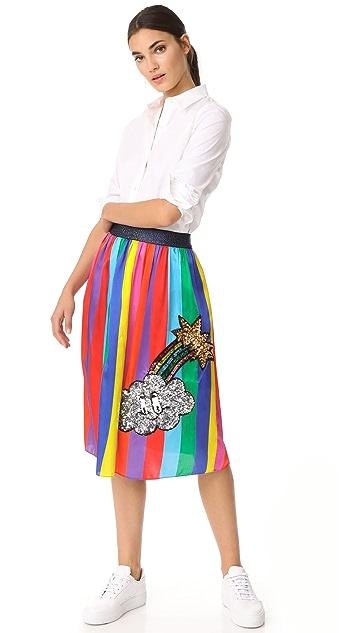 Mira Mikati Monster Sequin Rainbow Skirt