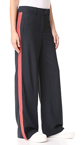 Mira Mikati Glitter Trim Wide Leg Trousers