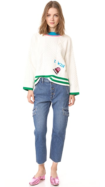 Mira Mikati Monster Embroidered Sweater