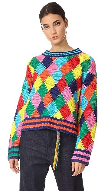 Mira Mikati Diamond Stitch Sweater