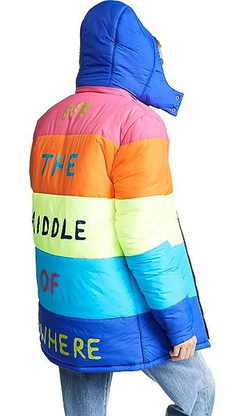 Mira Mikati Nowhere Rainbow Puffer Jacket In Multi