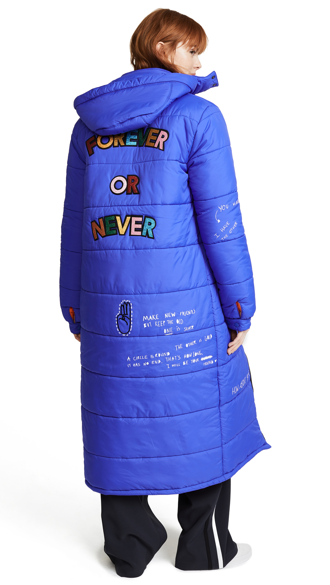 Mira Mikati Forever Or Never Puffer Jacket - Blue/Multi