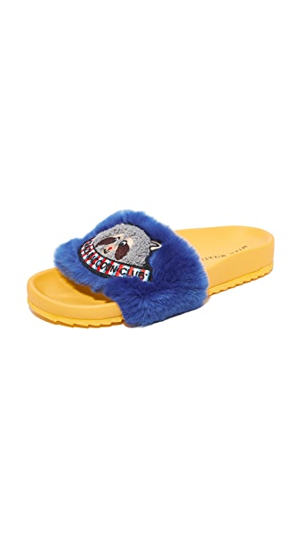 Mira Mikati Raccoon Patch Slides - Blue