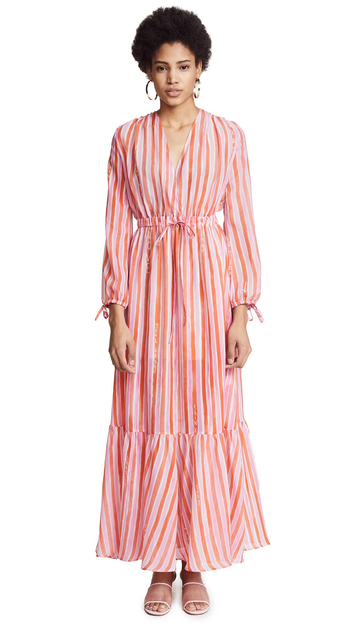 Mira Mikati Love More Stripe Dress
