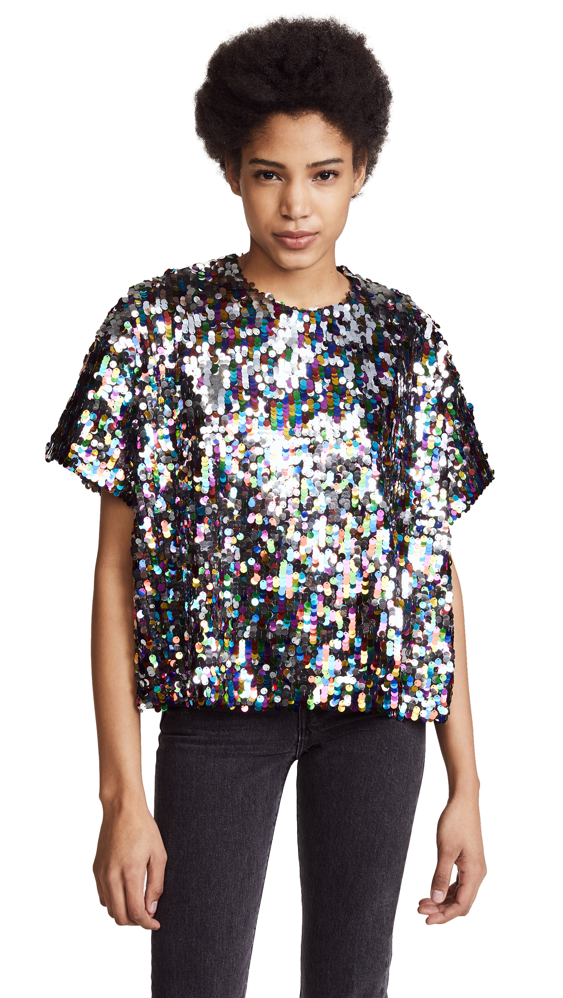 Mira Mikati Sequin Tee Top