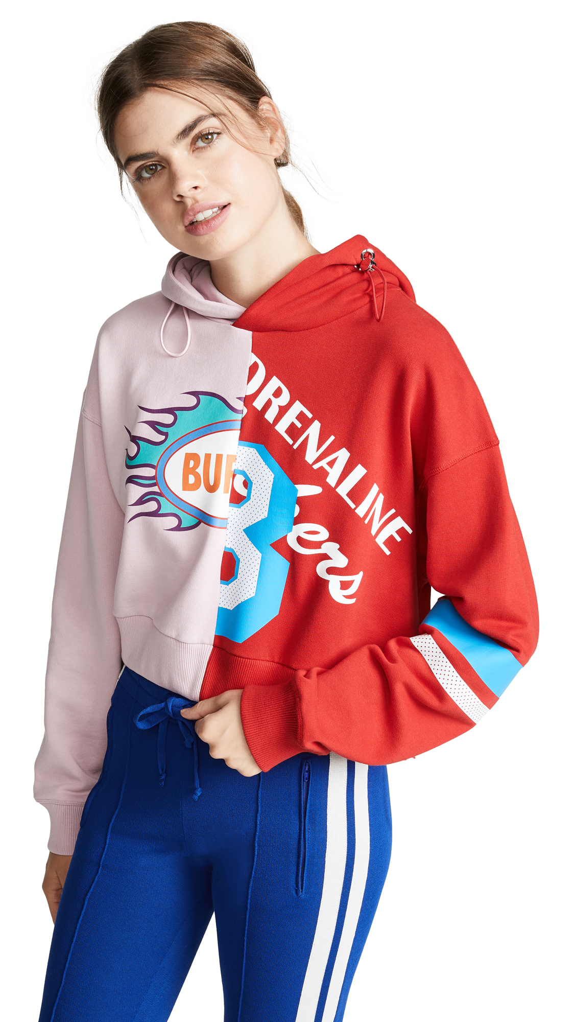 Mira Mikati Combo Hoodie In Pink/Red