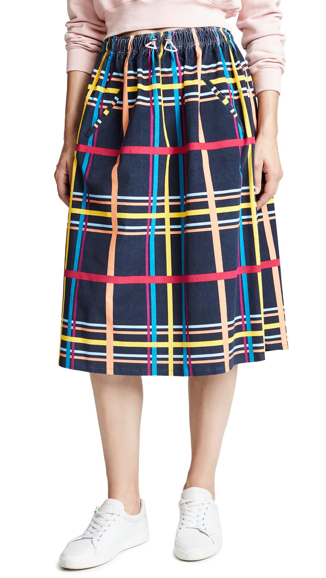 Mira Mikati Plaid Skirt In Multi Check