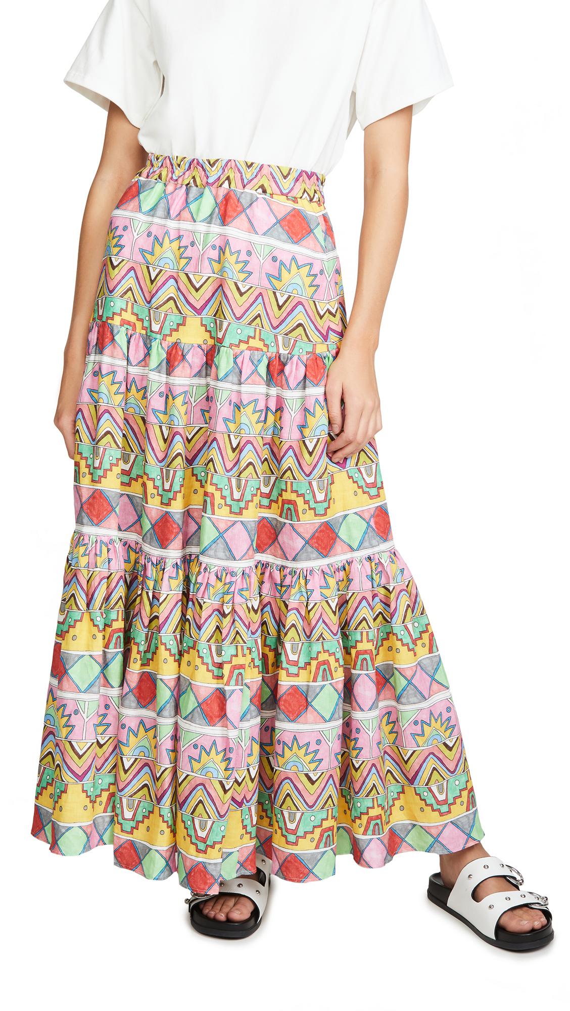 Buy Mira Mikati online - photo of Mira Mikati Maxi Three Panel Skirt