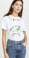 Mira Mikati Elephant Embroidered T-Shirt