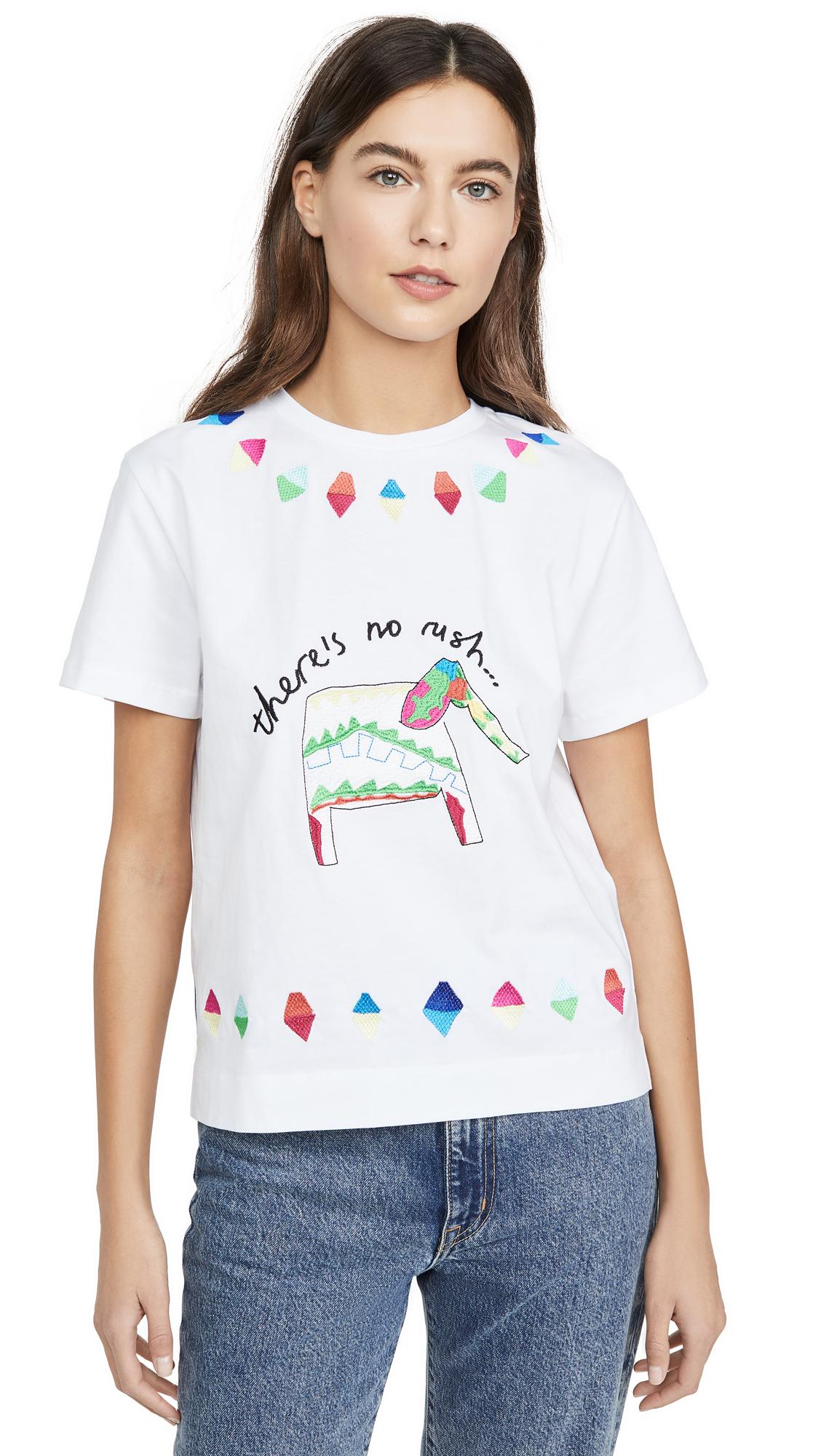 Buy Mira Mikati online - photo of Mira Mikati Elephant Embroidered T-Shirt