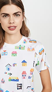 Mira Mikati Houses Print Oversized T-Shirt