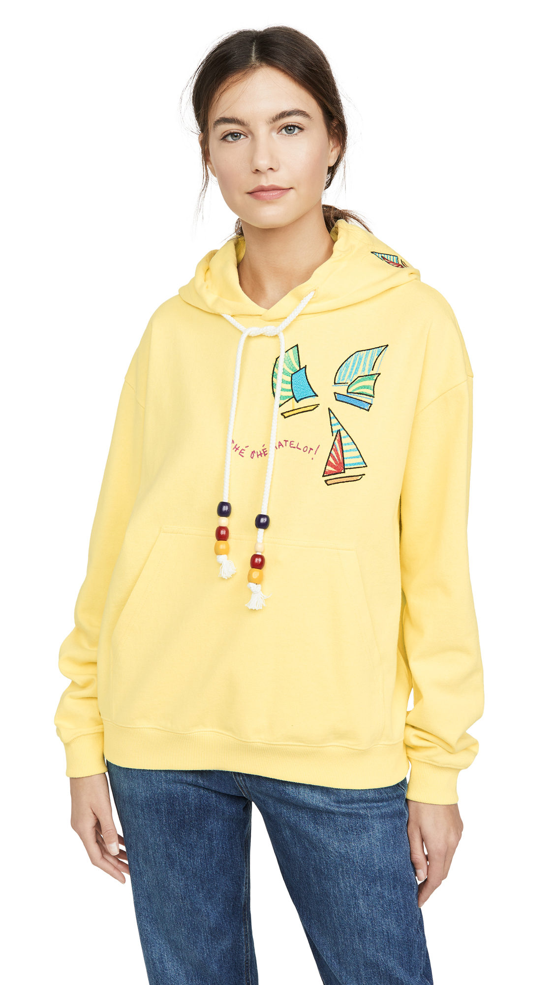 Mira Mikati Sailing Boat Embroidered Hoodie - 50% Off Sale