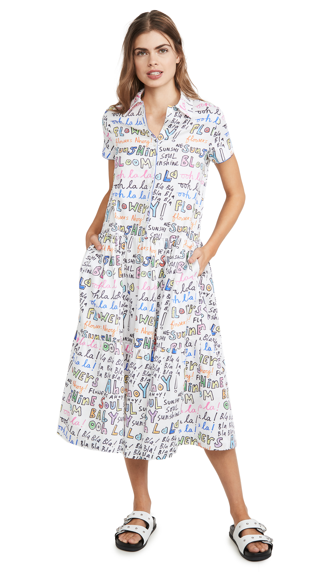 Buy Mira Mikati Oh Lala Print Short Sleeve Shirtdress online beautiful Mira Mikati Clothing, Dresses
