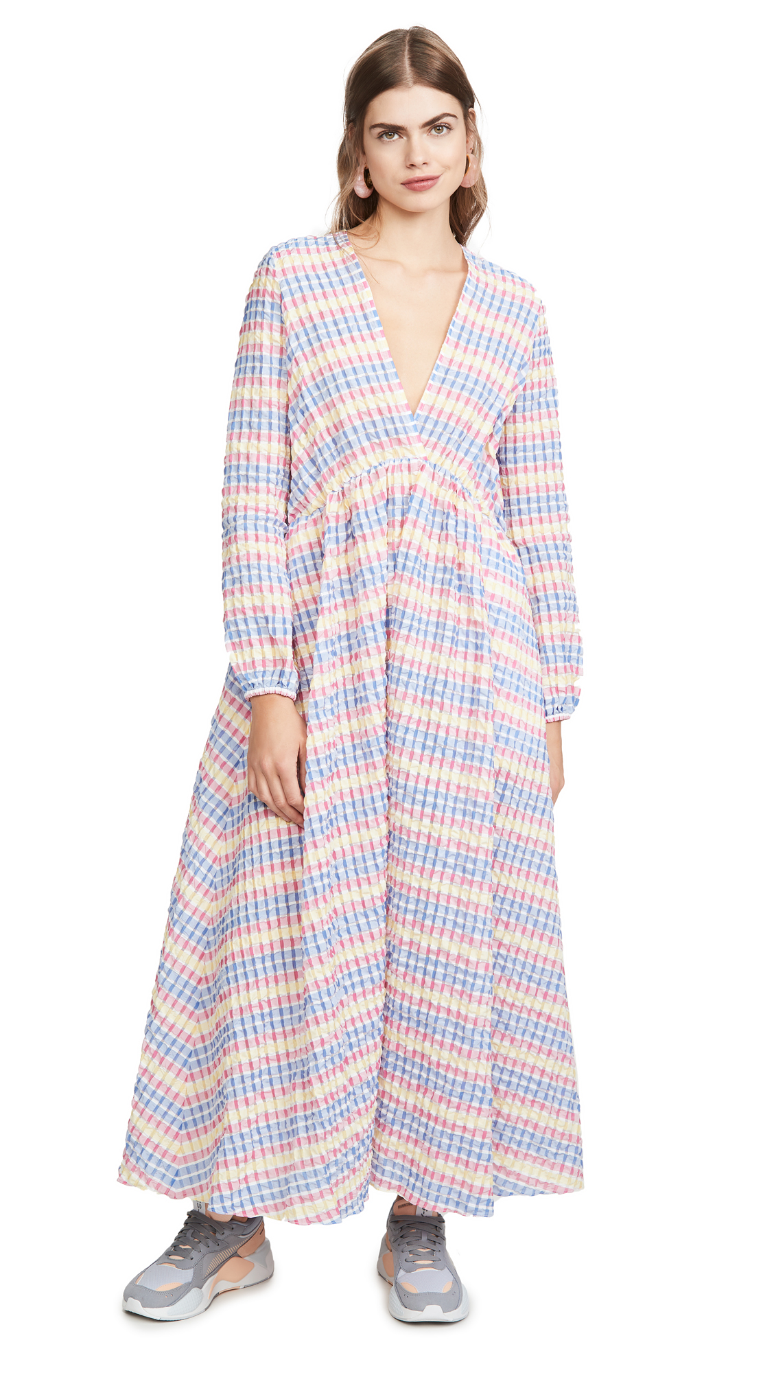 Mira Mikati Deep V Maxi Dress - 50% Off Sale