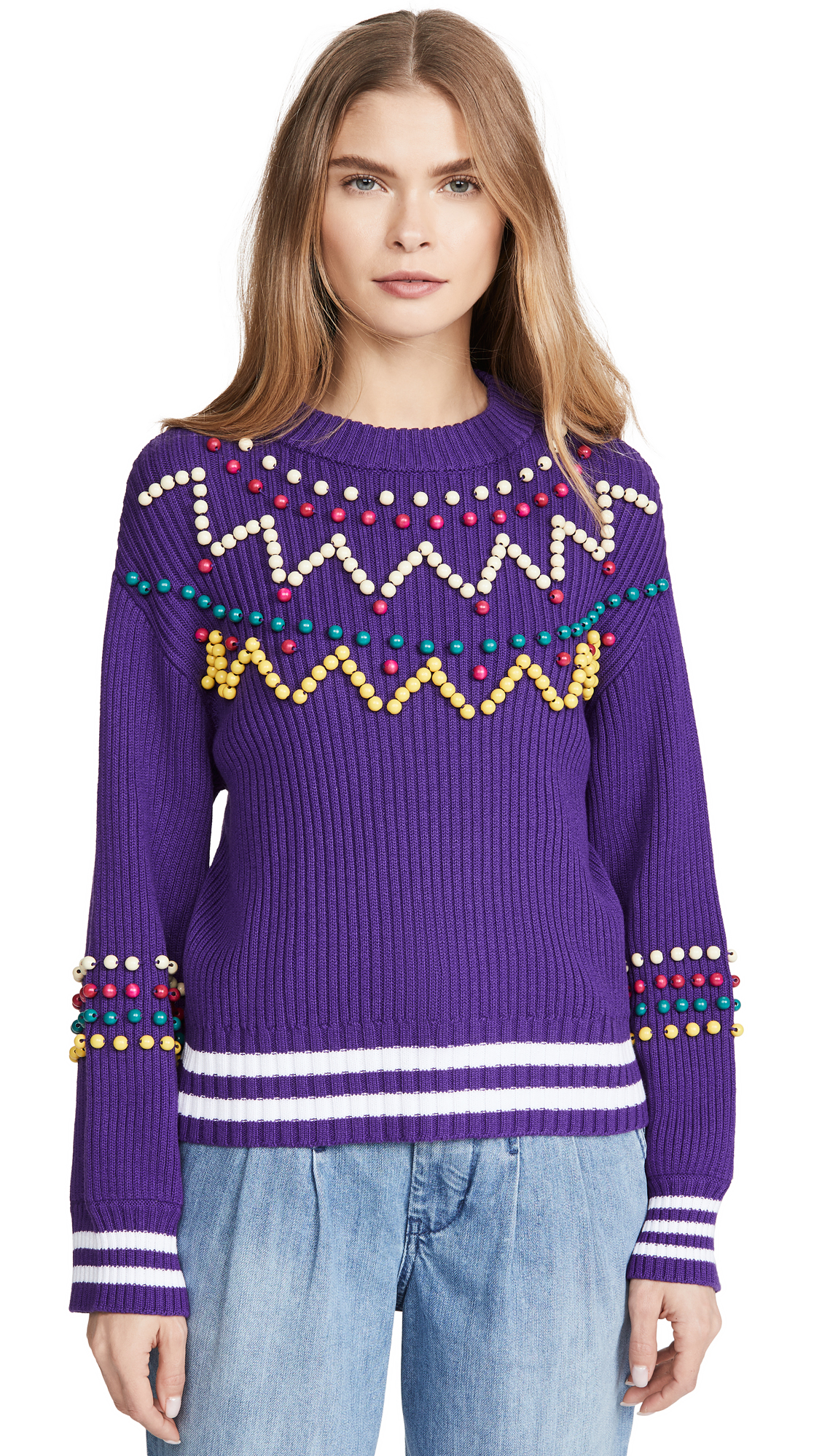 Buy Mira Mikati online - photo of Mira Mikati Beaded Sweater