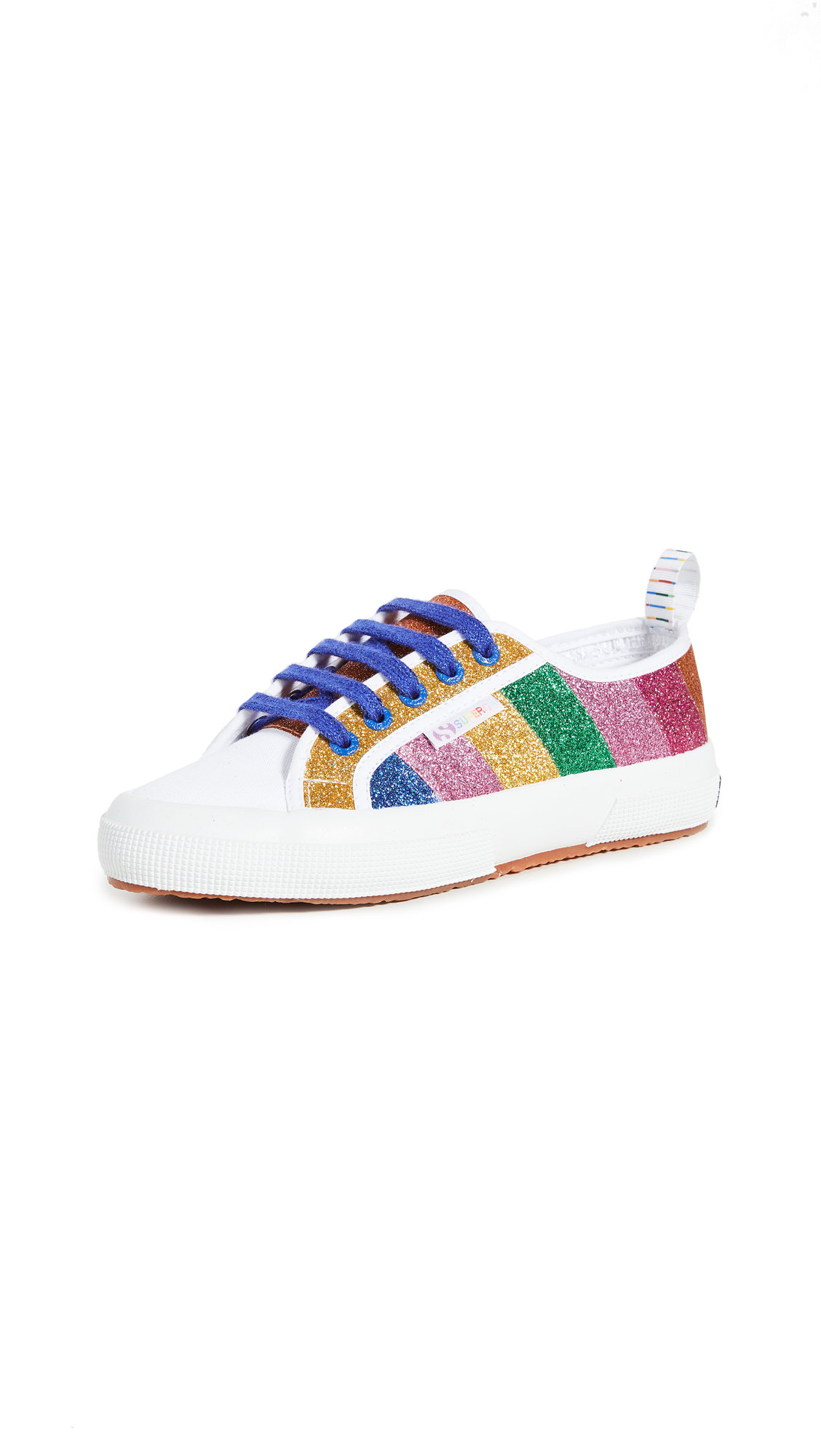 Mira Mikati x Superga Glitter Stripe Sneakers - 50% Off Sale