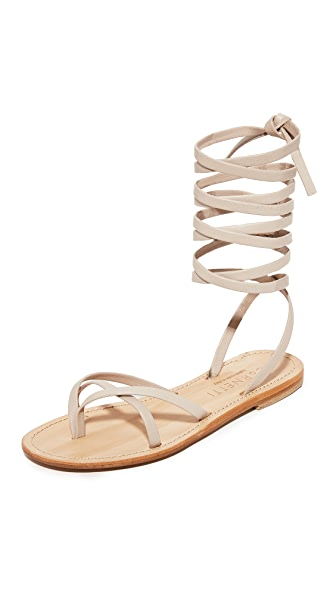 Cornetti Aiano Wrap Sandals - Rose Quartz/Natural