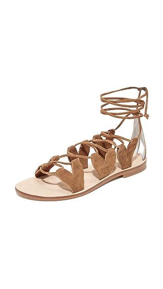 Cornetti Innamorati Wrap Sandals - Cognac