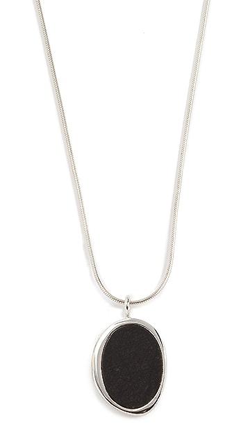 Contempoh Serpentine Stone Necklace