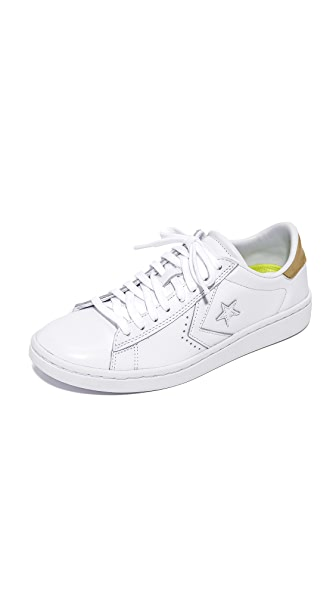 Converse Pro Leather OX Sneakers - White/Light Gold/White