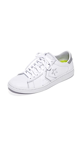 Converse Pro Leather OX Sneakers - White/Silver/White