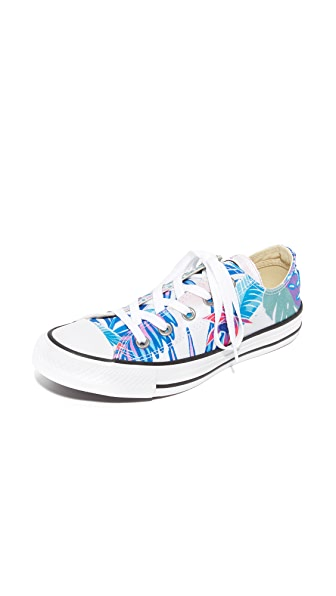 Converse Chuck Taylor All Star Oxford Tropical Print Sneakers - Fresh Cyan/Magenta
