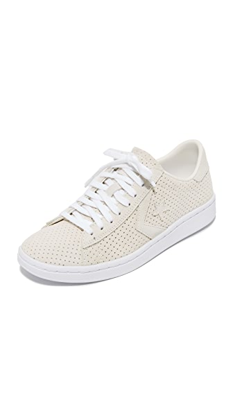 Converse Pro Leather Perf Suede OX Sneakers - Egret/Egret/White
