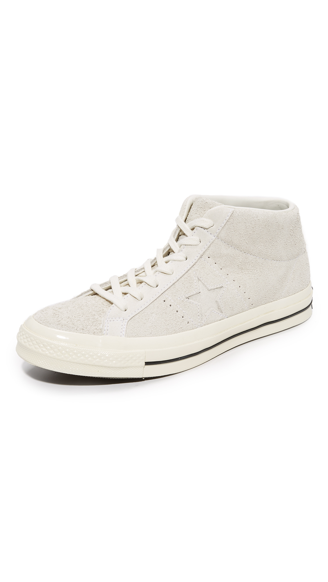 Converse One Star 74 Suede Mid Top Sneakers