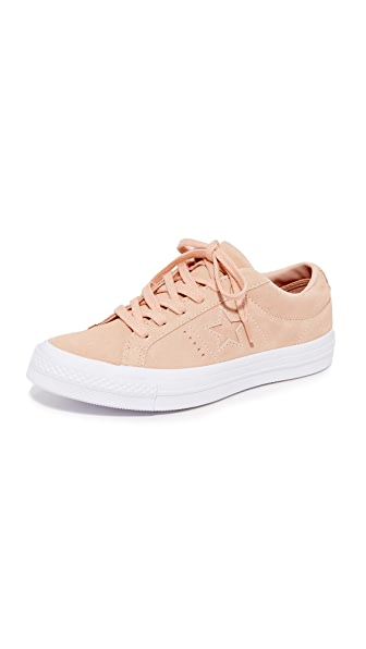 Converse One Star OX Sneakers - Dust Pink/Dust Pink/White
