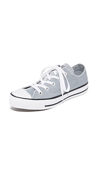Converse Chuck Taylor All Star Velvet OX Sneakers - Wolf Grey/White/White