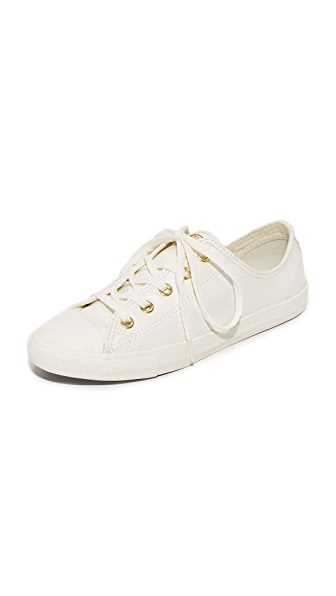 Converse Chuck Taylor All Star Dainty OX Sneakers - Egret/Gold/Egret