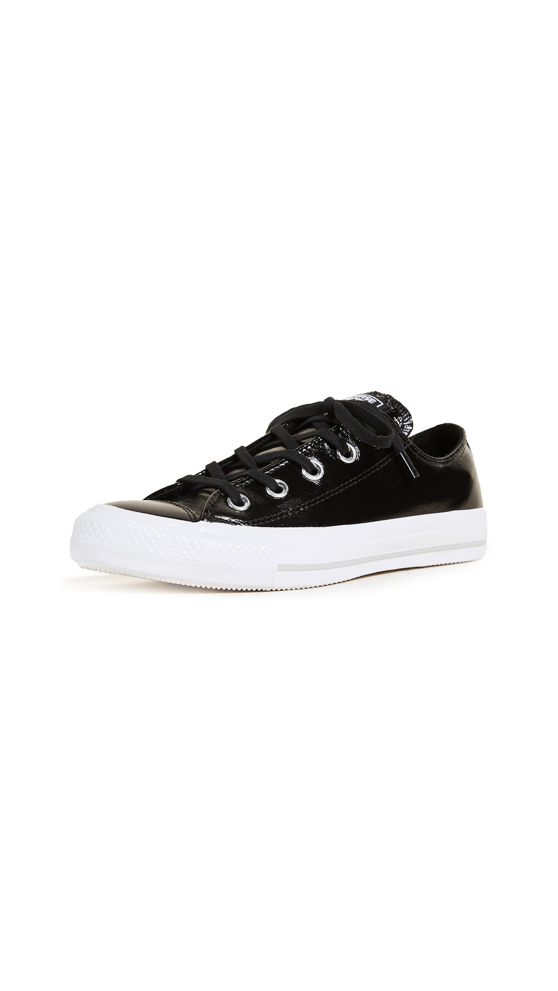 Converse Chuck Taylor All Star Crinkled Ox - Black/Black/White