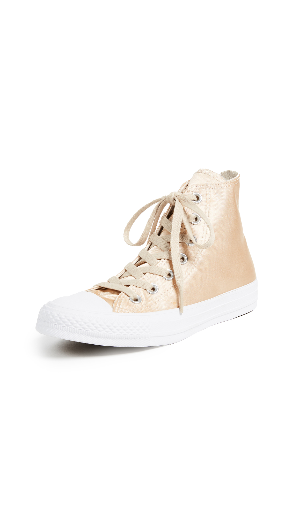 Converse Chuck Taylor All Star High Satin Sneakers - Parchment/Parchment/White