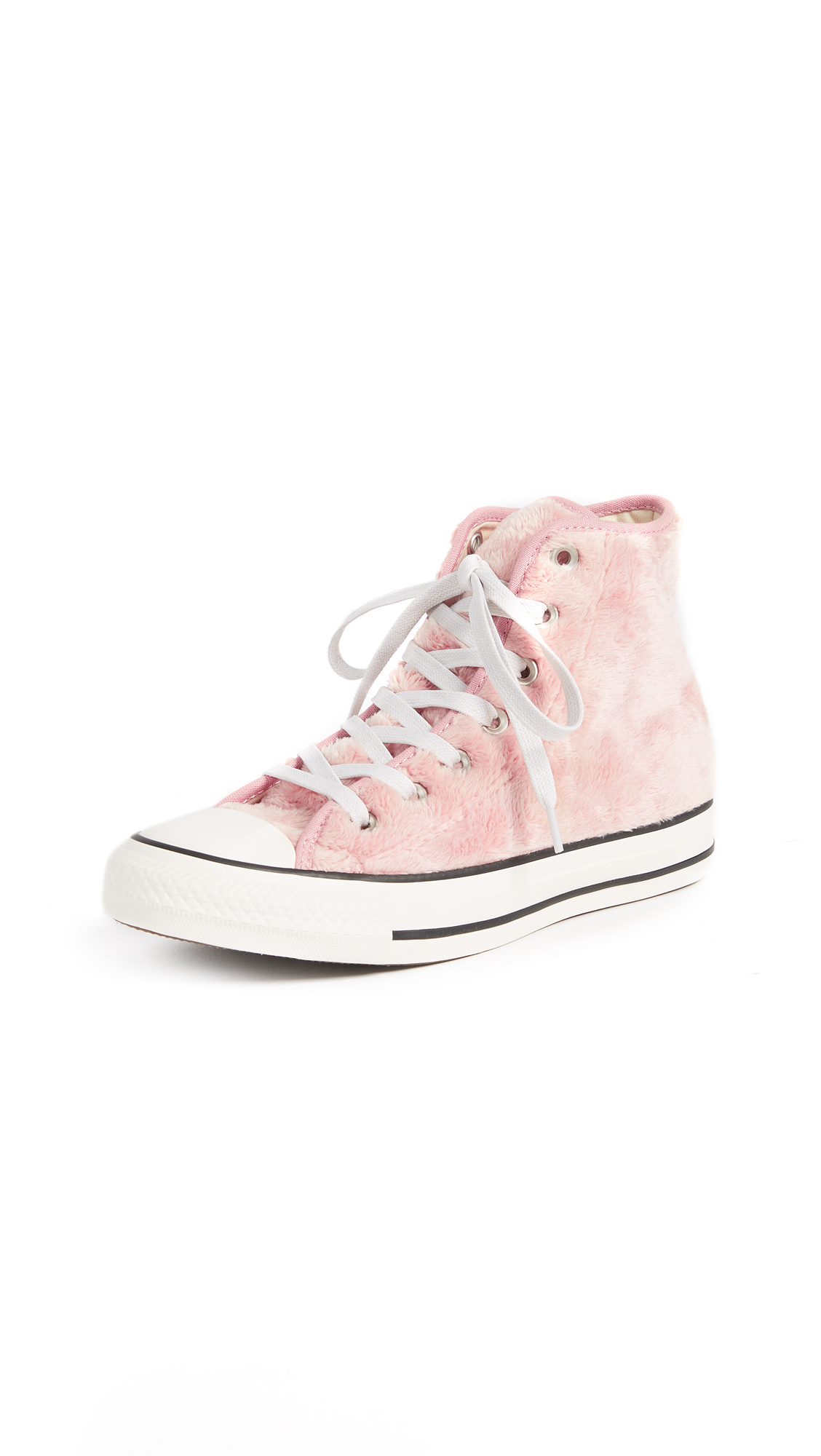 Converse Chuck Taylor All Star High Sherpa Sneakers - Rose Tan/Black/White