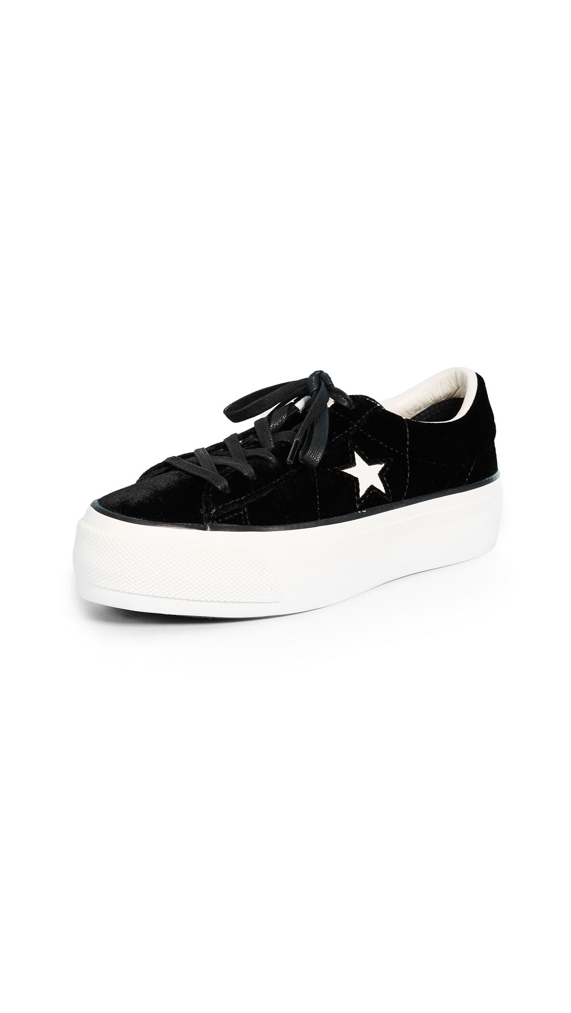 Converse One Star Platform Ox Sneakers - Black/Egret/Black
