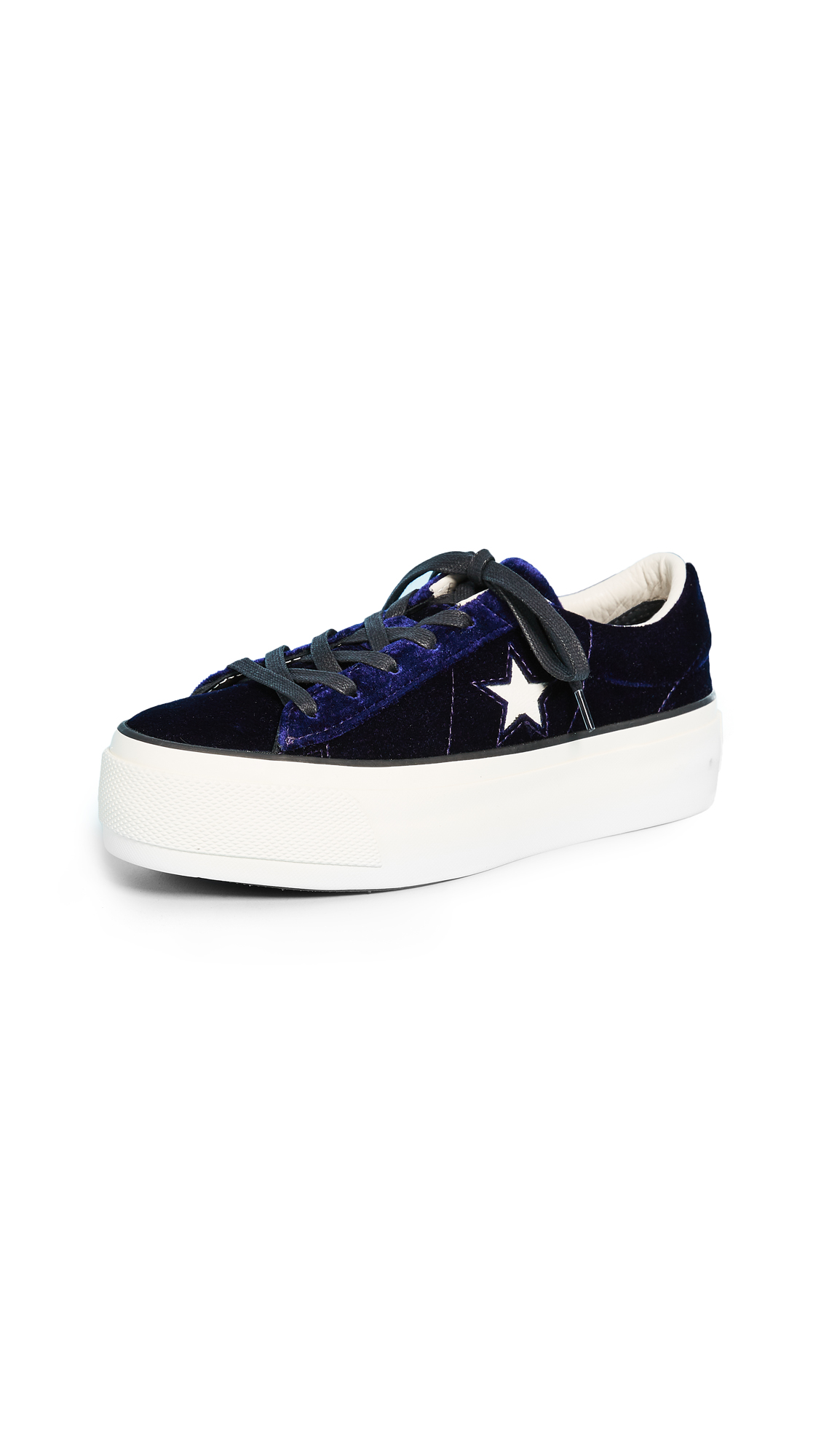 Converse One Star Platform Ox Sneakers - Eclipse Blue/Egret/Black