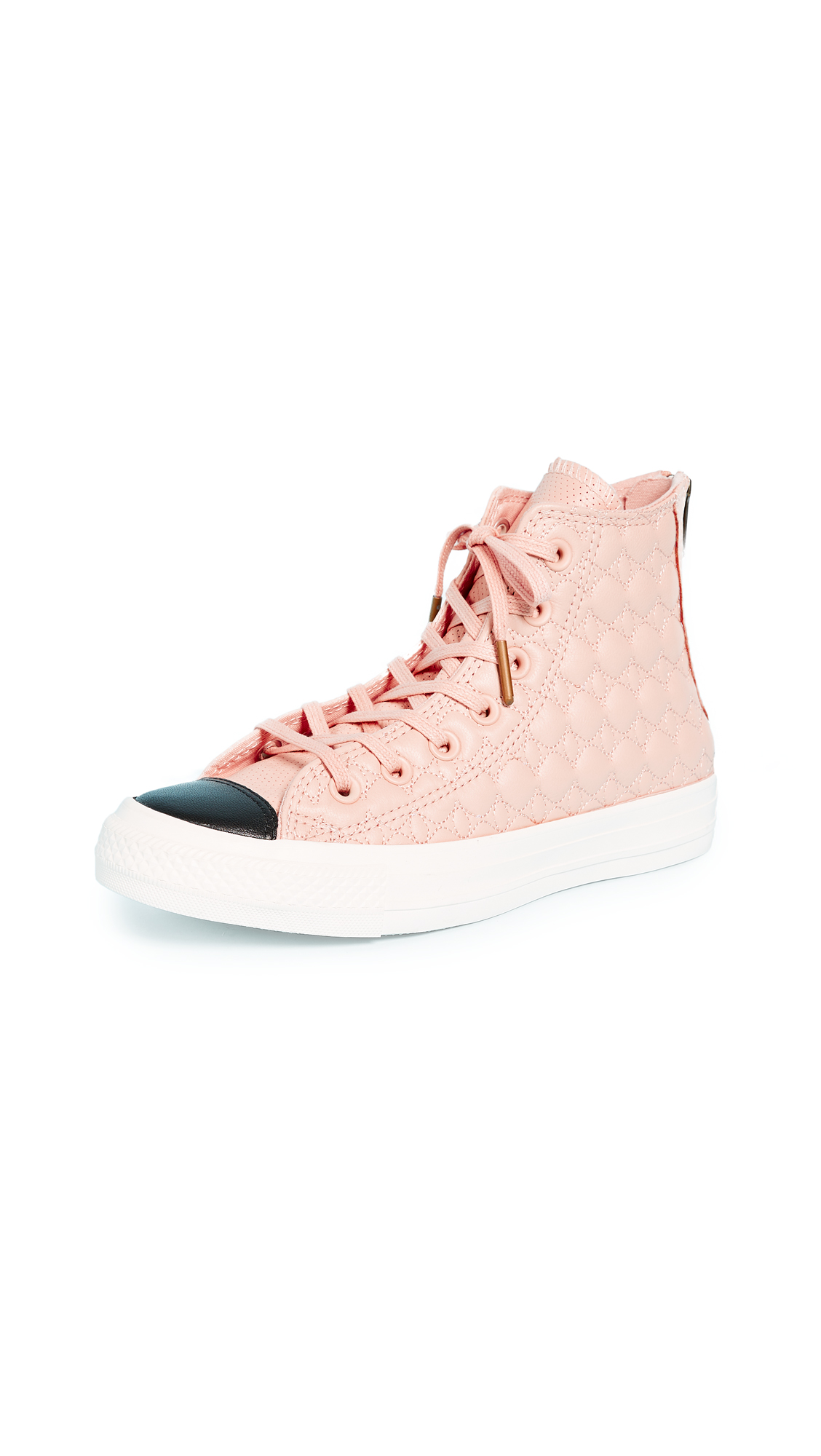 Converse Chuck Taylor All Star Back Zip High Top Sneakers - Dusk Pink/Egret/Black