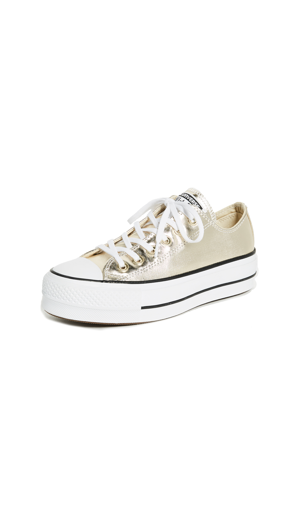 Converse Chuck Taylor All Star Lift OX Sneakers - Gold/Black/White