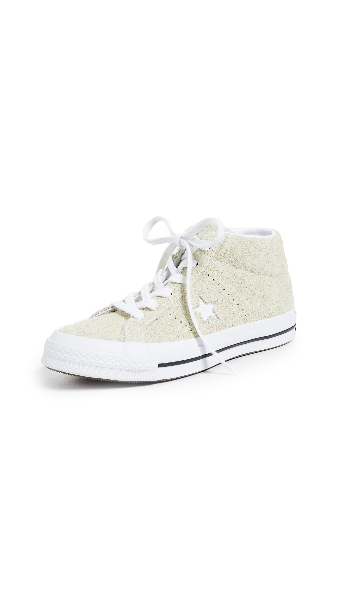 Converse One Star Mid Sneakers - Vapor Lemon/White/Black