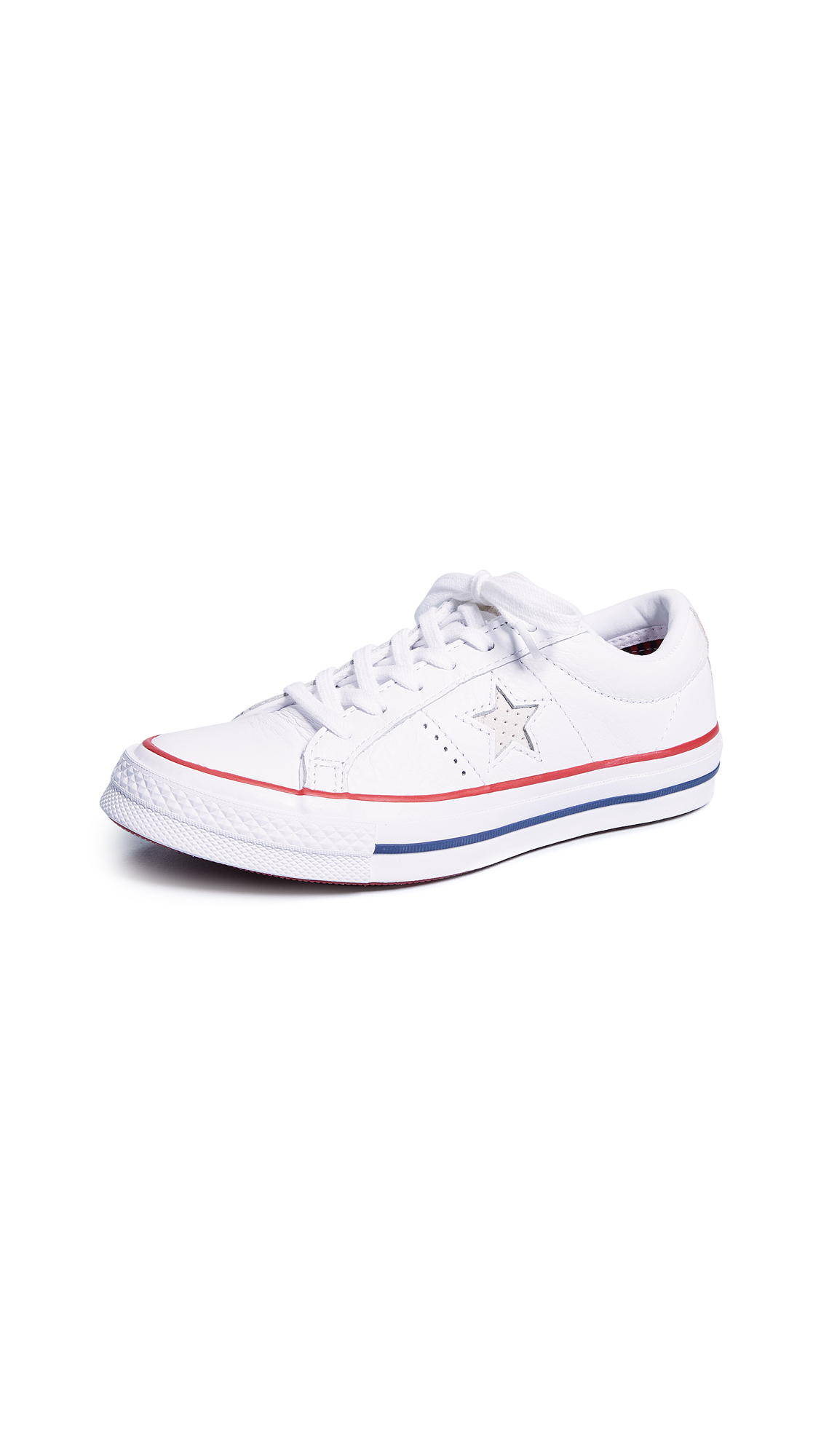 Converse One Star Ox Sneakers - White/Gym Red