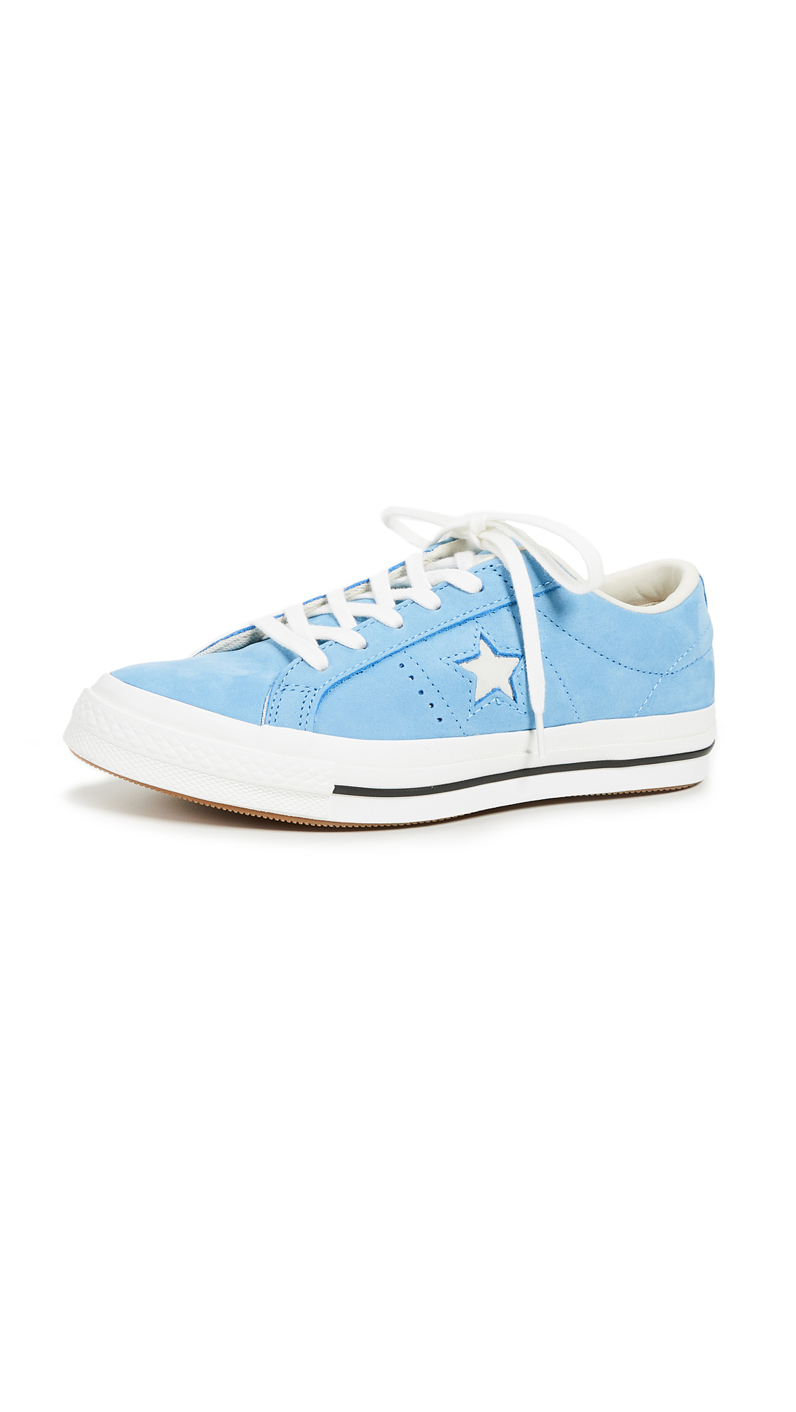 Converse One Star Ox Sneakers - Light Blue/Black