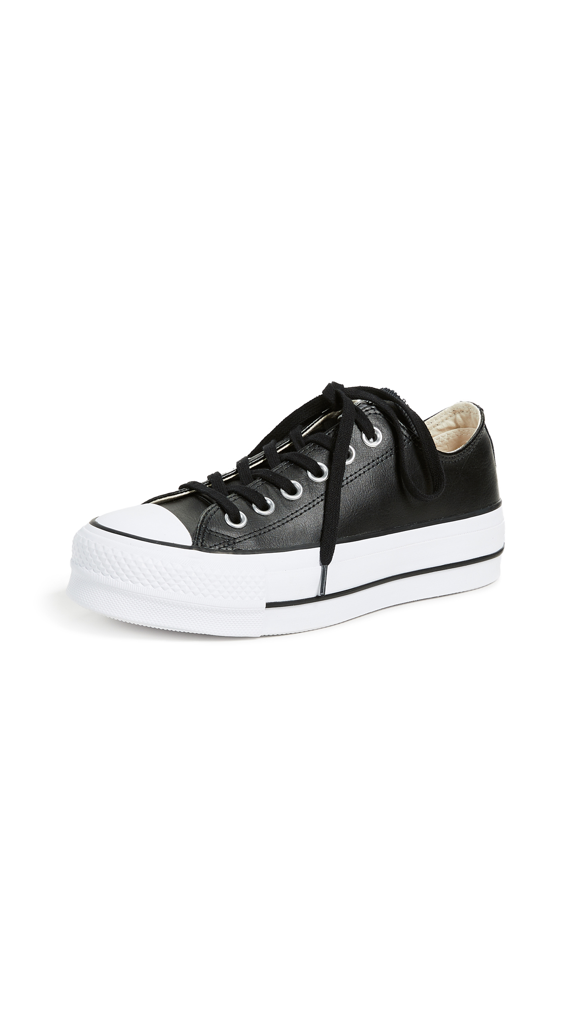 Converse Chuck All Star Lift Clean Ox Sneakers - Black/White