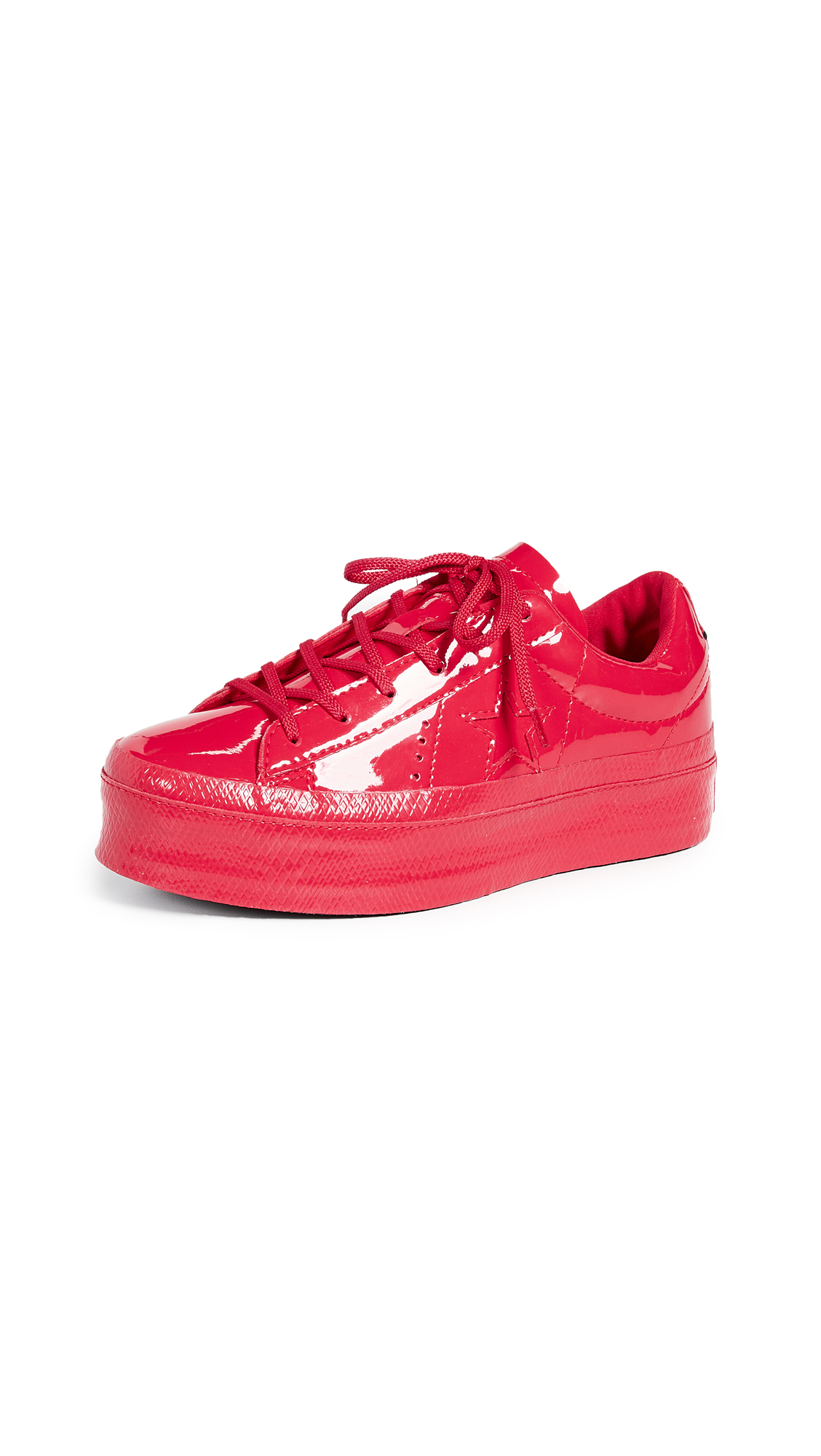 Converse One Star Platform Ox Sneakers - Cherry Red