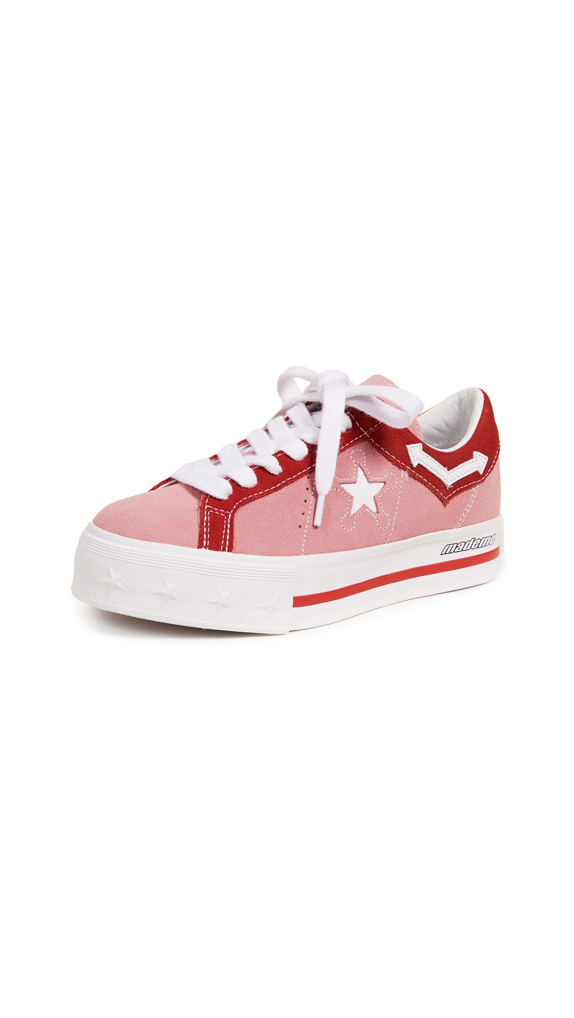 Converse x MadeMe One Star Lift Platform Sneakers - Pink