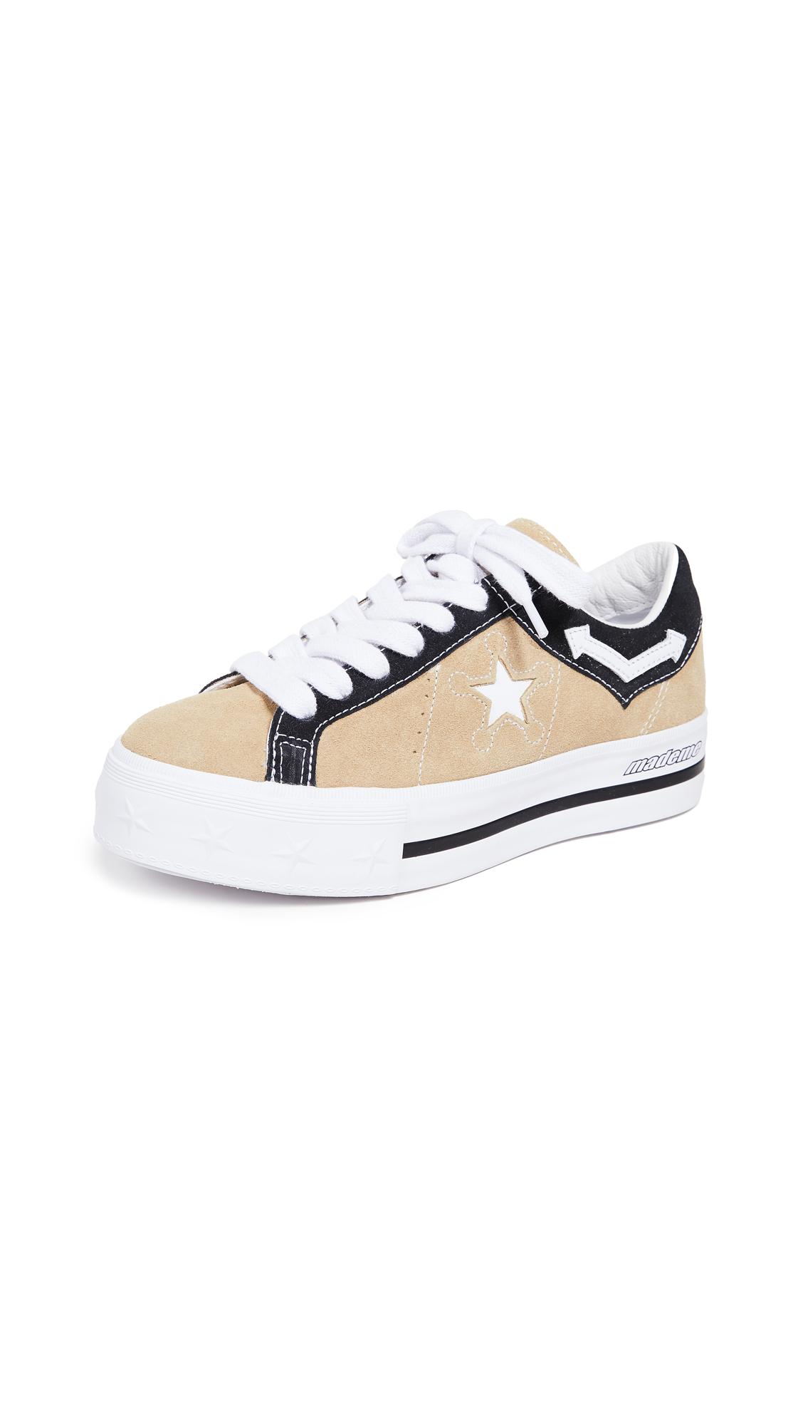 Converse x Mademe Platform Sneakers - Wood Ash/White/Black
